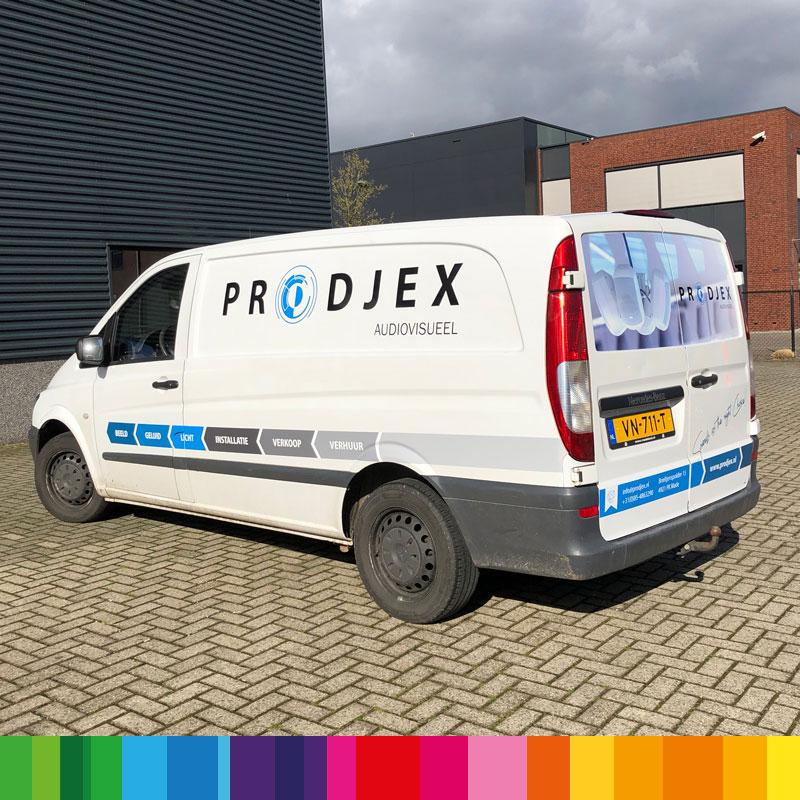 Belettering Prodjex audiovisueel